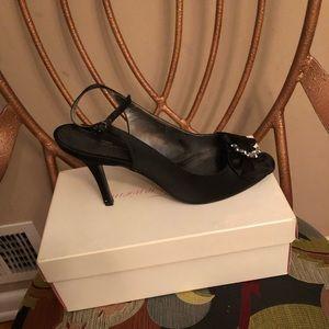 Women's Satin Bridal Shoe Worn Once